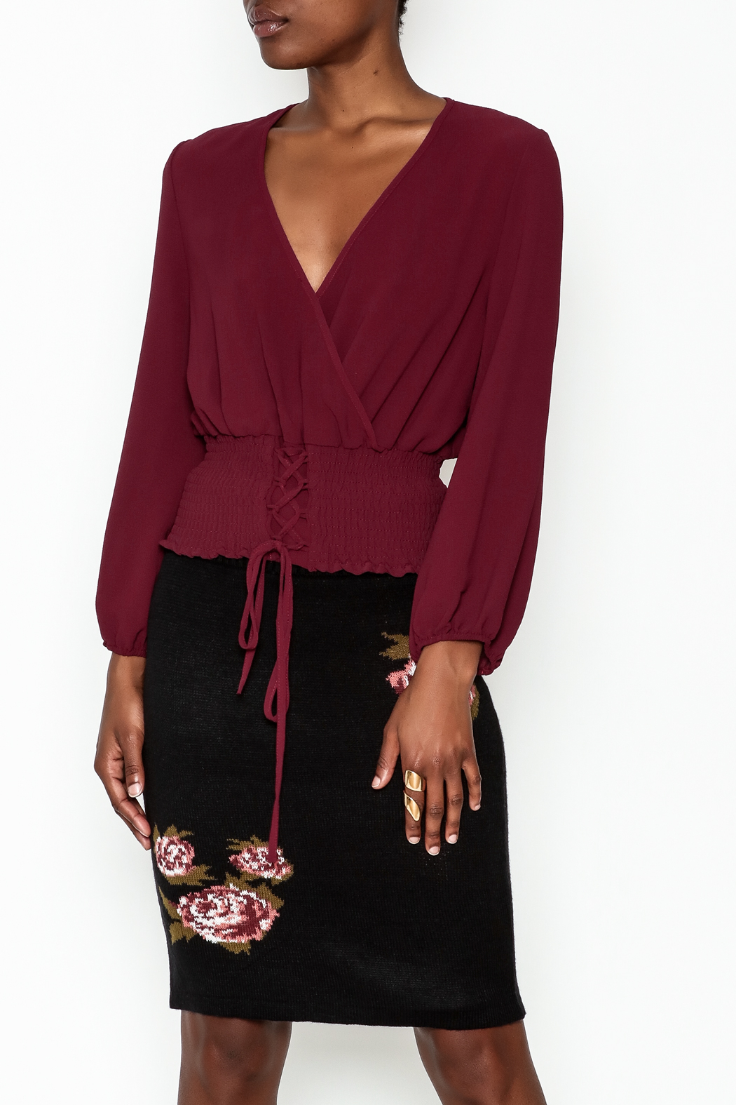 MICHEL Corset Top - Front Cropped Image