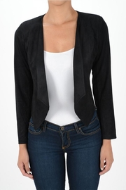 MICHEL Draped Open Blazer - Front cropped