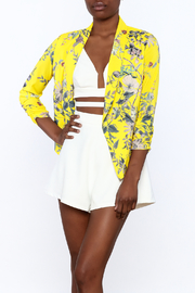 MICHEL Yellow Floral Blazer - Product Mini Image