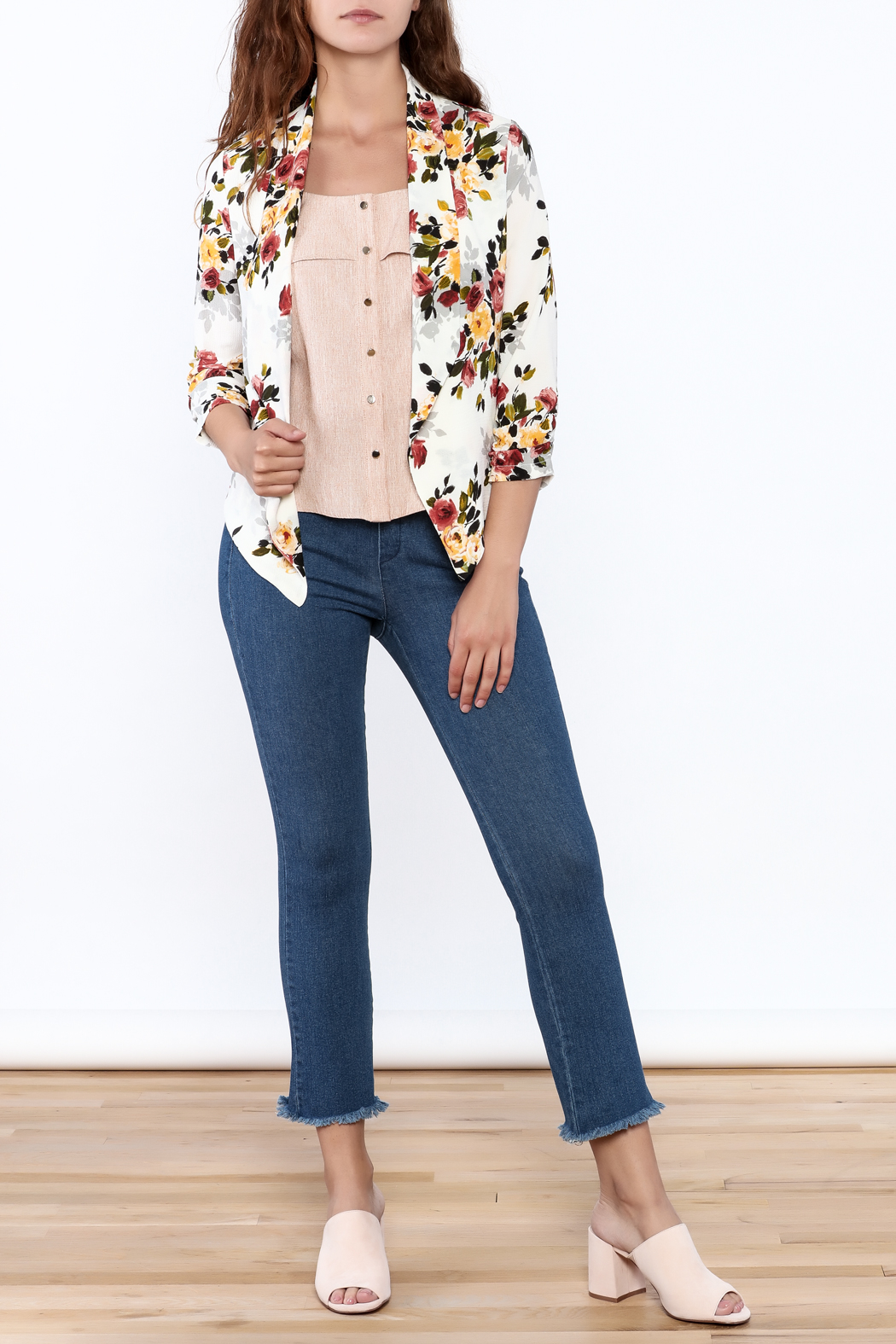 MICHEL Floral Blazer - Side Cropped Image
