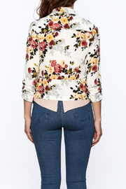 MICHEL Floral Blazer - Back cropped