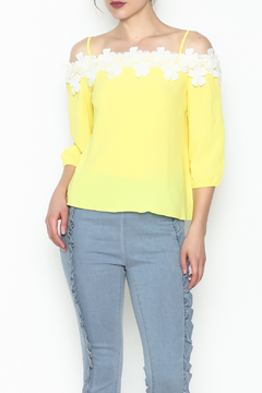 Shoptiques Product: Flower Crochet Blouse