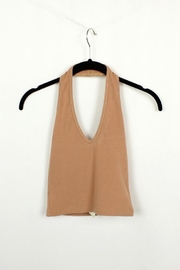 MICHEL Halter V Neck Crop Top - Product Mini Image