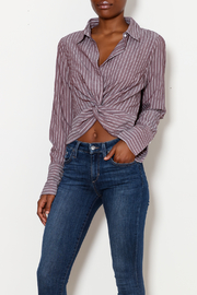 MICHEL Knot Bottom Blouse - Product Mini Image