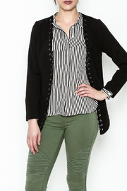 MICHEL Lace Up Blazer - Front cropped