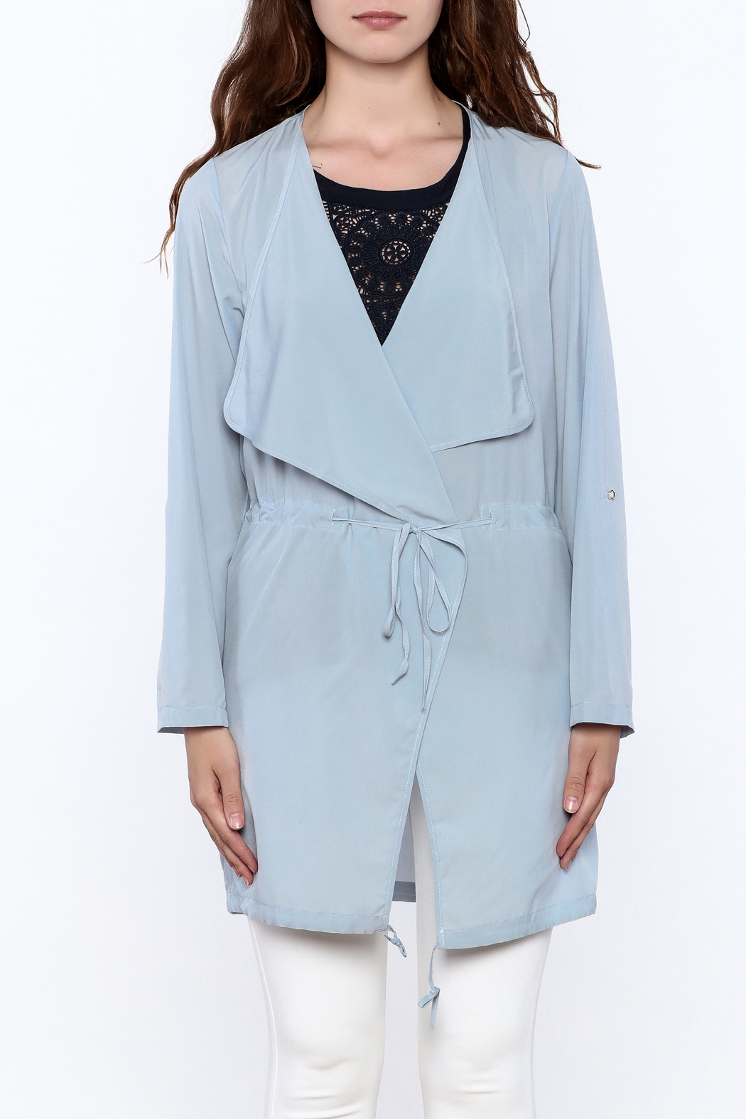 MICHEL Lightweight Trench Coat - Side Cropped Image
