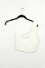 MICHEL One Shoulder Sleeveless Tank Top - Front full body