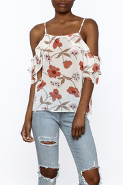 MICHEL Ruffle Floral Top - Product Mini Image