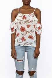 MICHEL Ruffle Floral Top - Side cropped