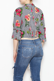 MICHEL Tie Bottom Blouse - Back cropped