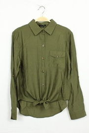 MICHEL Tie Bottom Button-Down - Product Mini Image