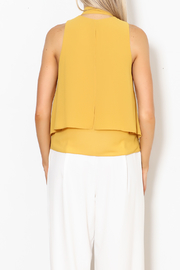 MICHEL Tie Front Blouse - Back cropped