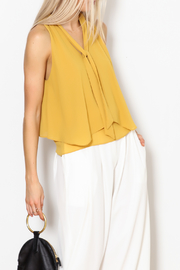 MICHEL Tie Front Blouse - Product Mini Image