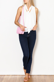 MICHEL Tie Front Blouse - Side cropped