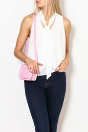 MICHEL Tie Front Blouse - Front cropped