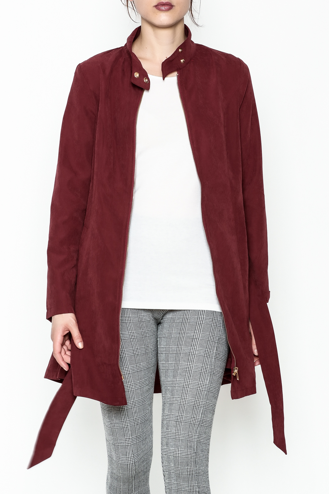 MICHEL Zip Up Jacket - Front Cropped Image