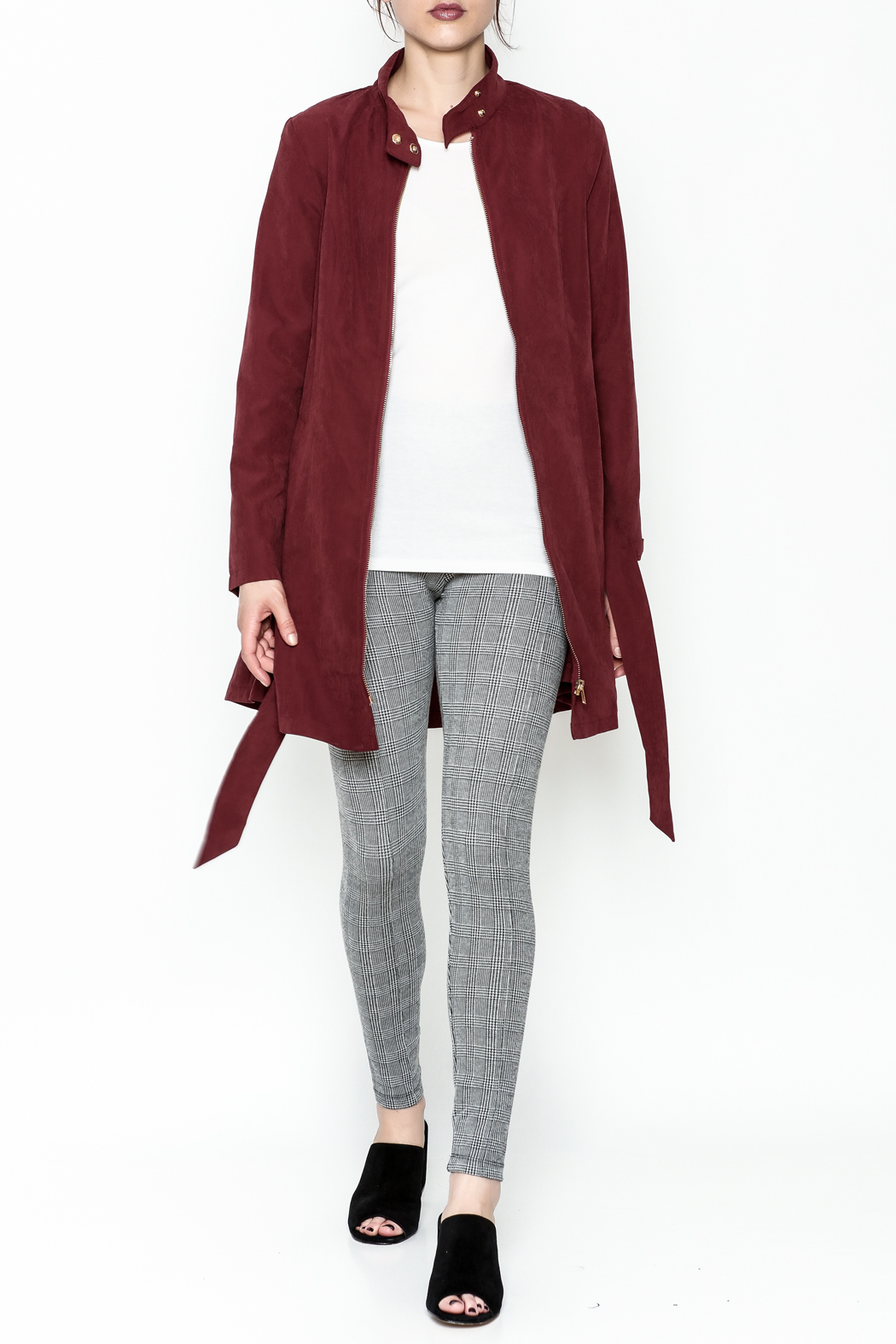 MICHEL Zip Up Jacket - Side Cropped Image