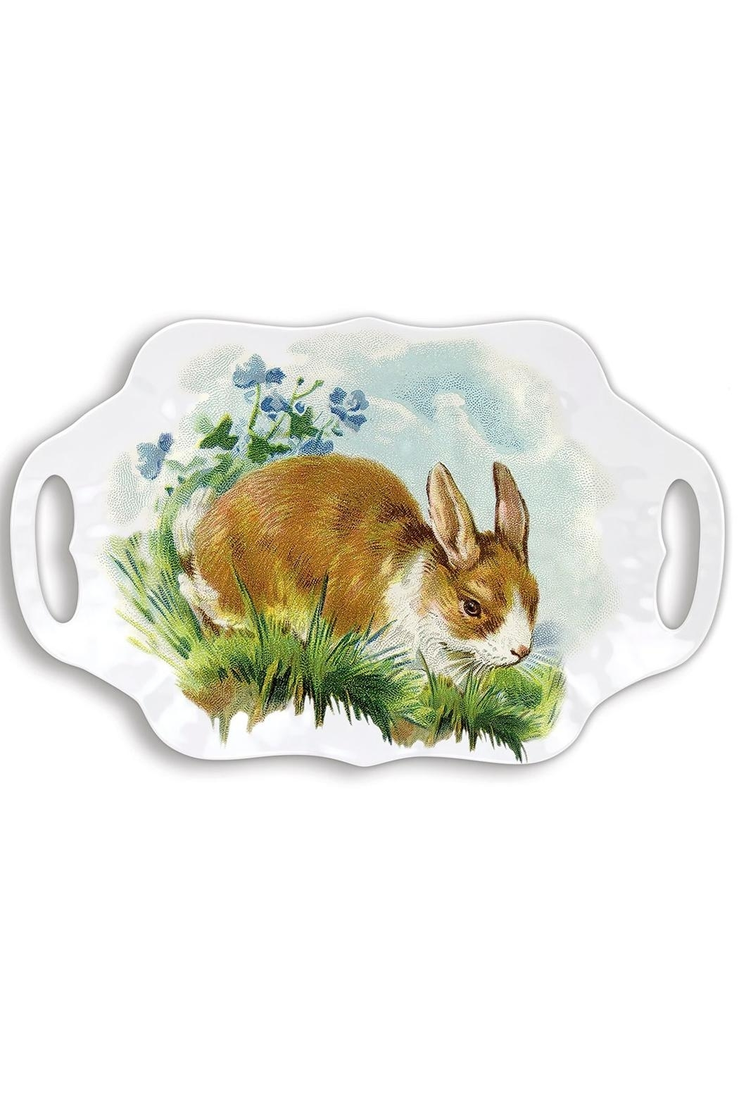 Michel Design Works Bunny Hollow Melamine-Serving-Tray - Main Image