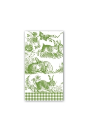 Michel Design Works Bunny Toile Hostess Napkin - Product Mini Image