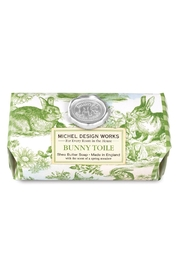 Michel Design Works Bunny Toile Large Bath Soap Bar - Product Mini Image