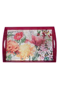 Michel Design Works Decoupage Wooden Tray - Alternate List Image
