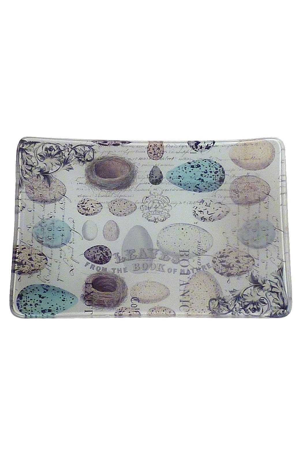 Michel Design Works Glass Soap Dish - Front Cropped Image