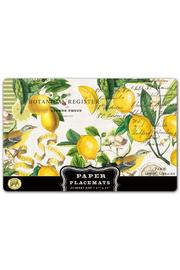 Michel Design Works Lemon Paper Placemats - Product Mini Image