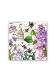 Michel Design Works Lilac Cocktail Napkin - Front cropped