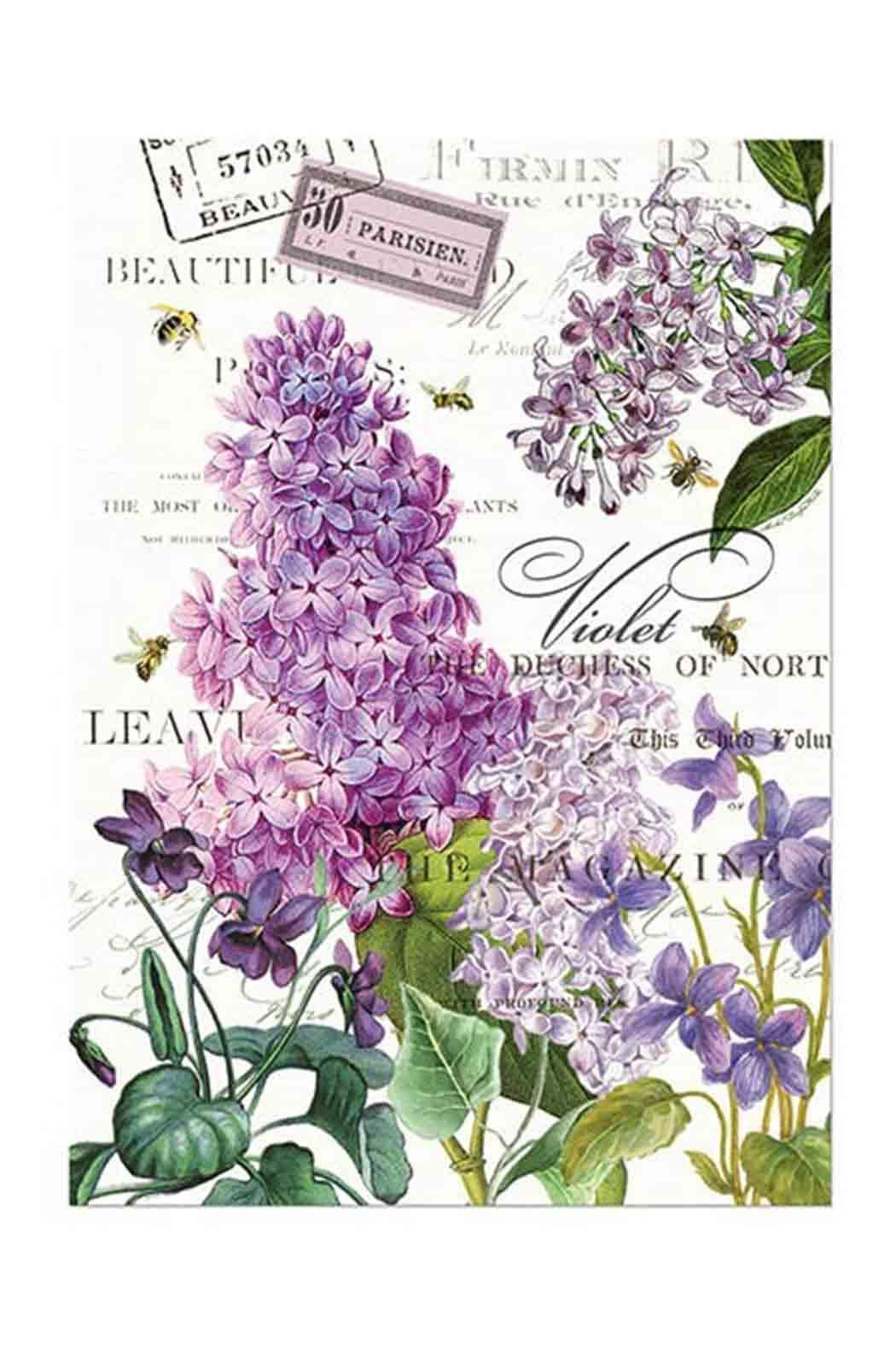 Michel Design Works Lilac Kitchen Towel   Front Cropped Image
