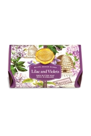 Michel Design Works Lilac Violets Soap - Front cropped