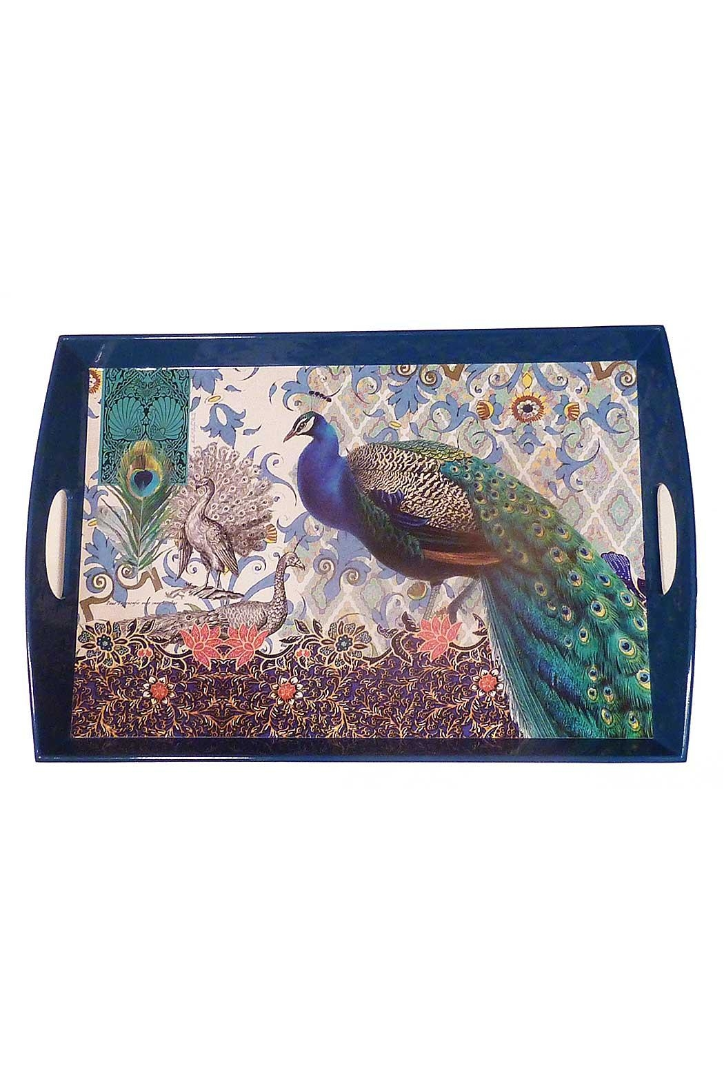 Michel Design Works Peacock Wooden Tray - Main Image