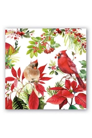 Michel Design Works Poinsettia Cocktail Napkin - Product Mini Image