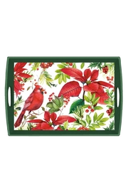 Michel Design Works Poinsettia Wood Tray - Product Mini Image