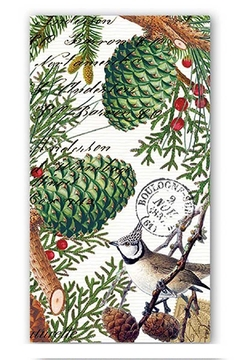 Michel Design Works Spruce Hostess Napkins - Alternate List Image