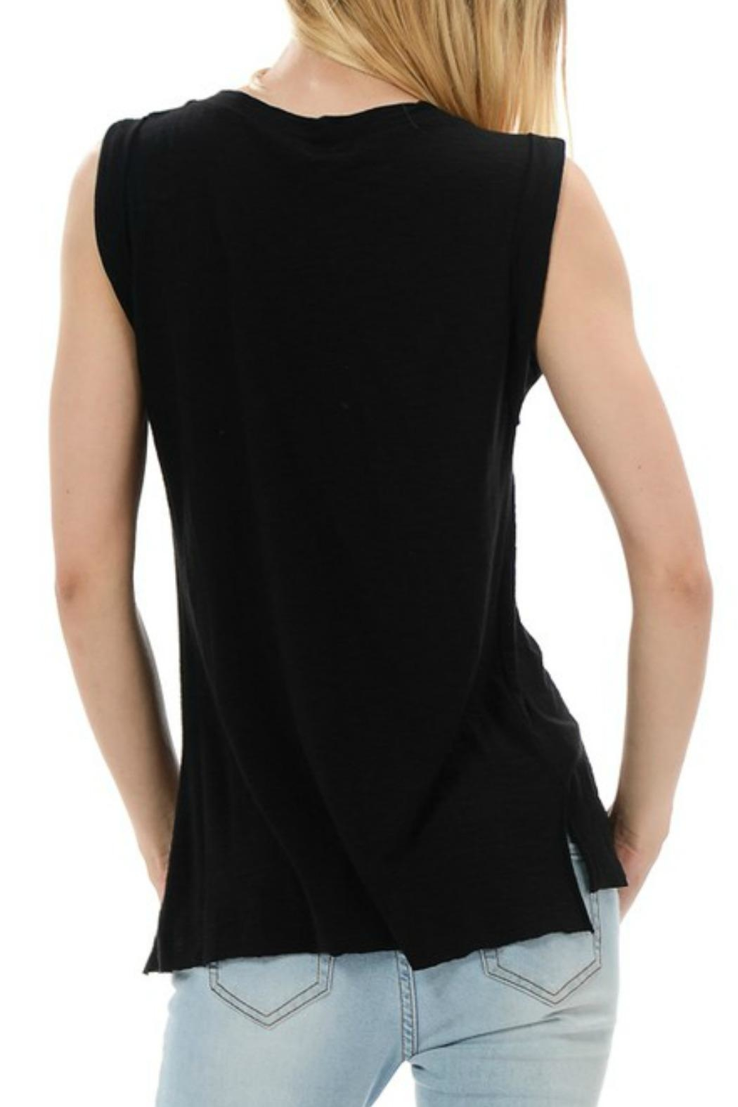 Michele Raw-Hem Muscle Tee - Front Full Image