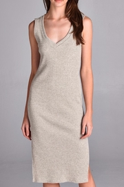 Michele Taupe Knit Dress - Front cropped
