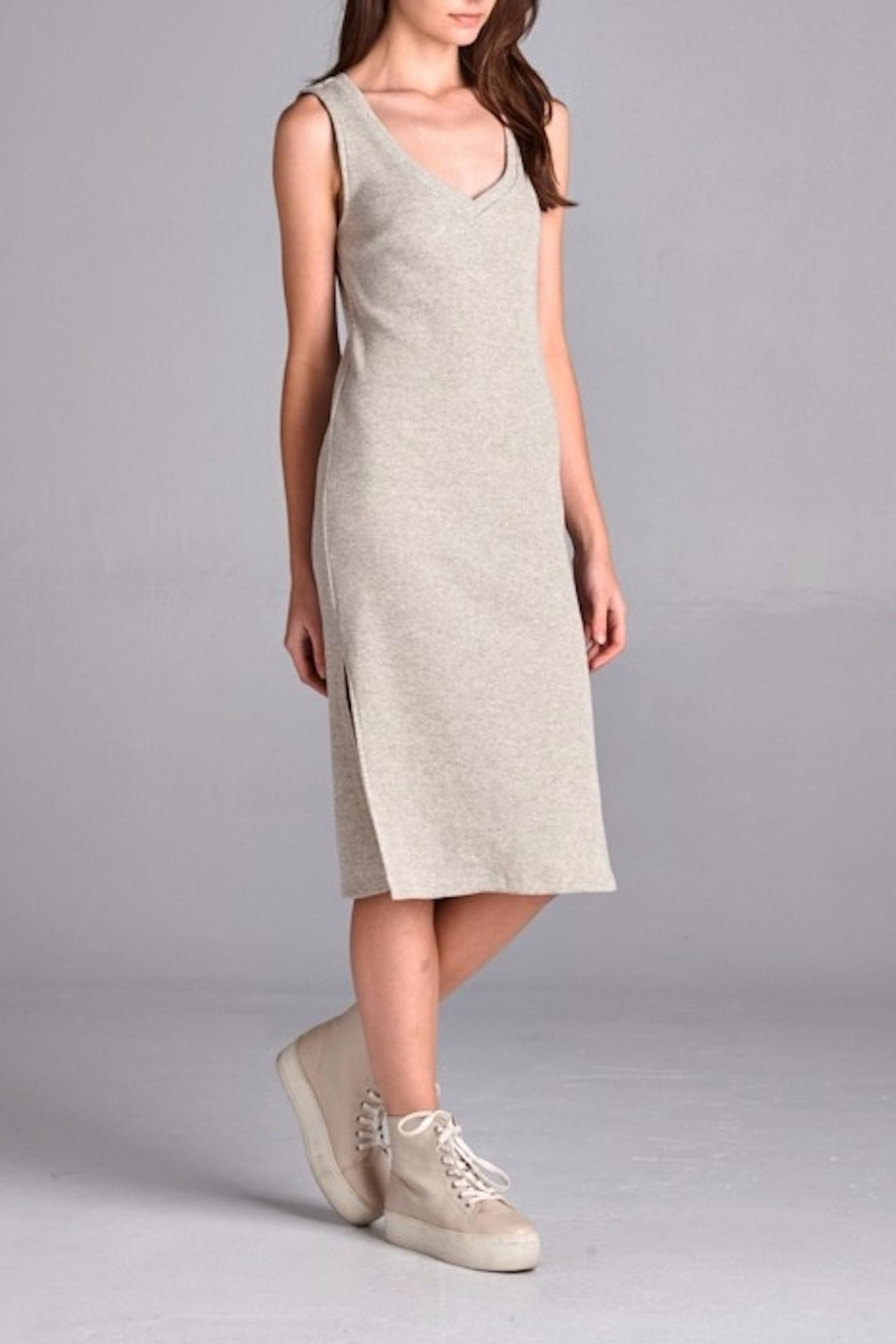 Michele Taupe Knit Dress - Front Full Image