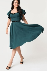 Unique Vintage Micheline-Pitt Carmelita Swing-Dress - Product Mini Image