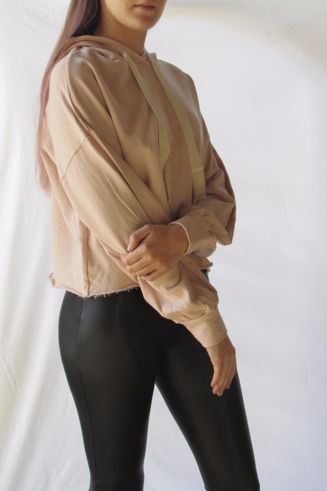 Michelle Blush Oversized Hoodie - Side Cropped Image