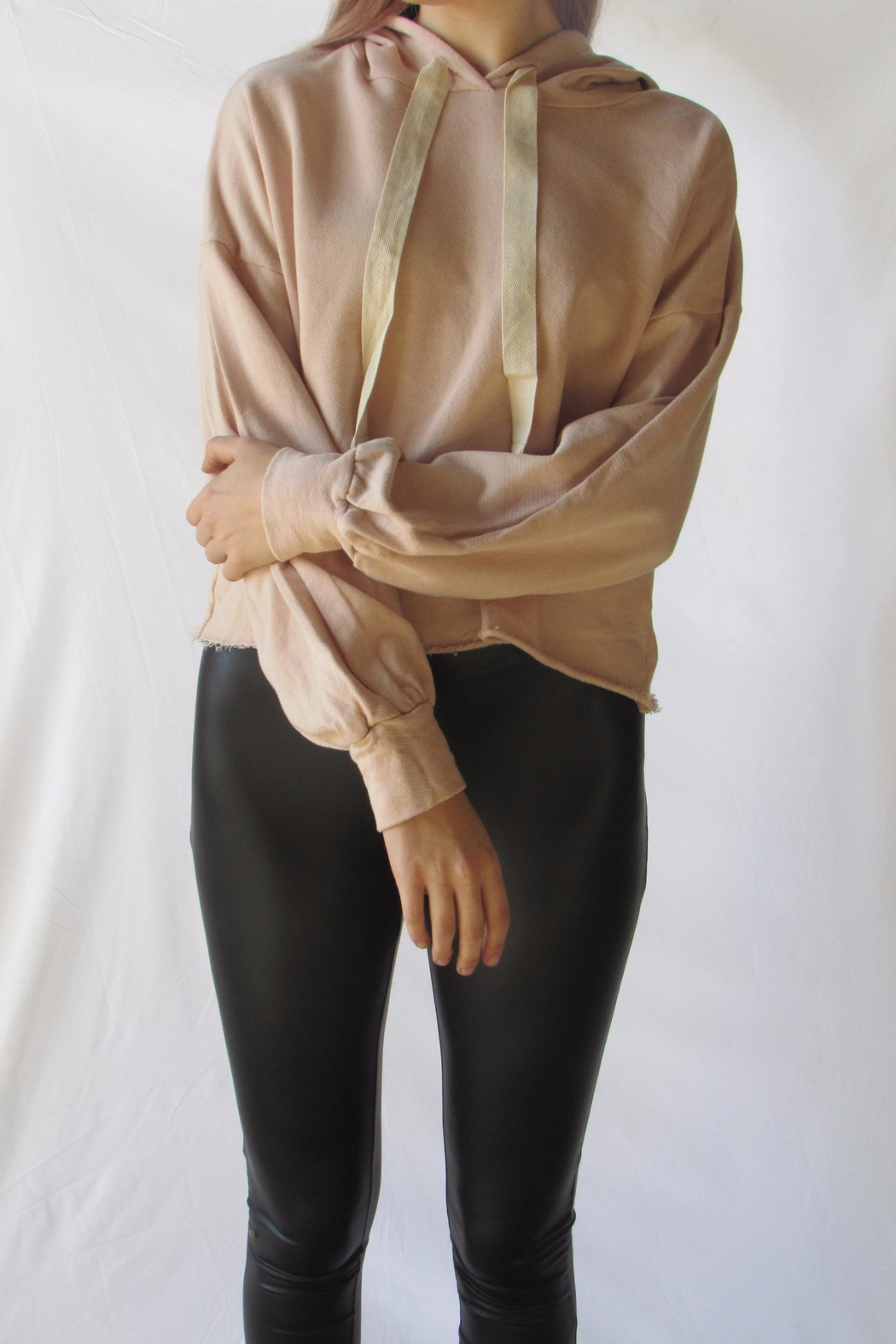 Michelle Blush Oversized Hoodie - Front Full Image