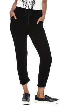 Michelle by Comune Black Drawstring Joggers - Product List Image