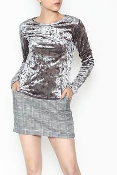 Michelle by Comune Crushed Velvet Top - Product List Image
