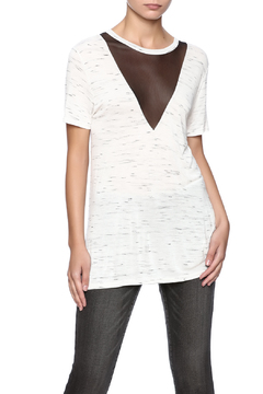 Michelle by Comune White Mesh V-Neck - Product List Image