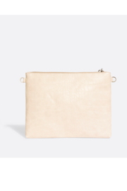 Pixie Mood Michelle Clutch – White Croc - Front full body