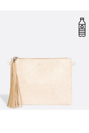 Pixie Mood Michelle Clutch – White Croc - Side cropped