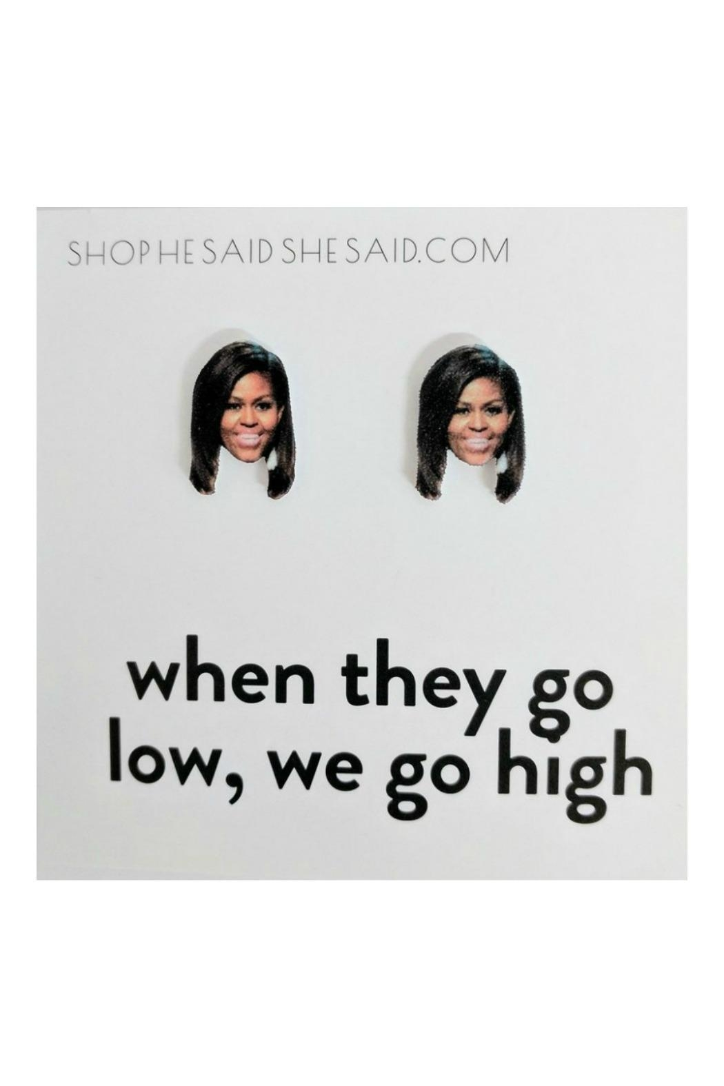 He Said, She Said Michelle Obama Earrings - Main Image