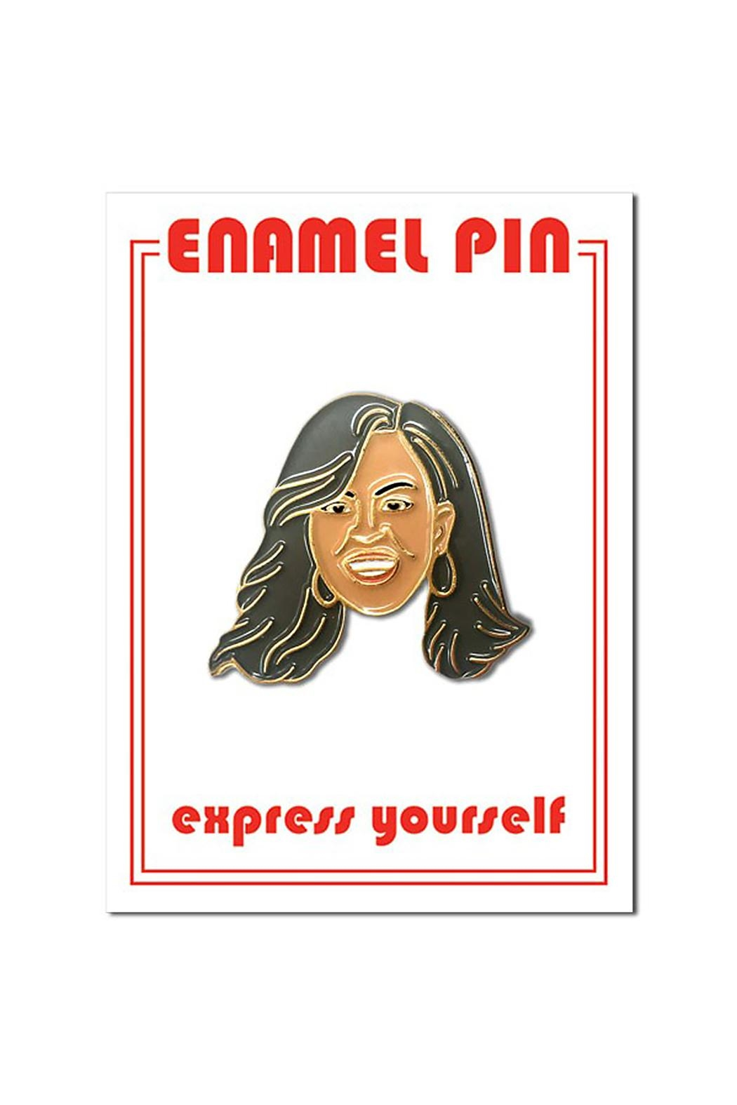 The Found Michelle Obama Pin - Front Cropped Image