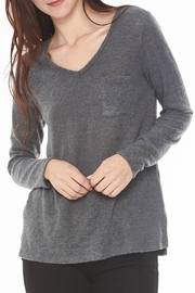 Michelle by Comune Grey Sheer Sweater - Front cropped