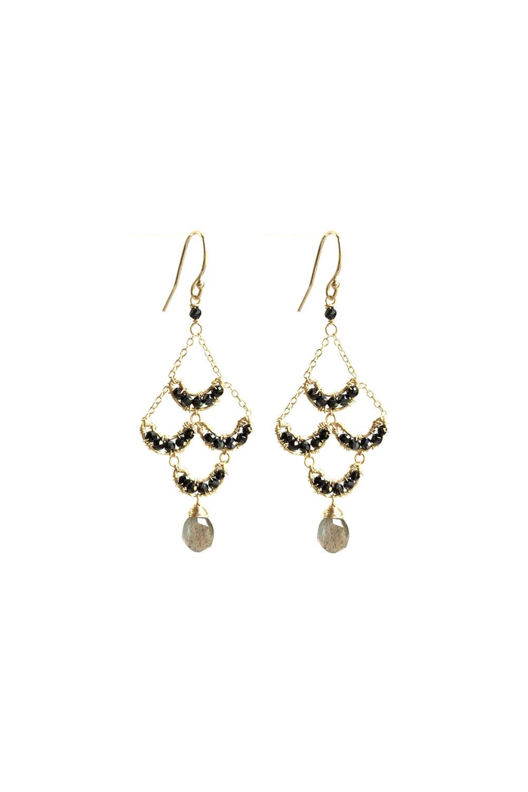 Michelle Pressler Black Chandelier Earrings - Main Image