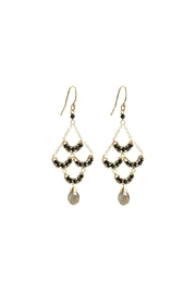 Michelle Pressler Black Chandelier Earrings - Front cropped